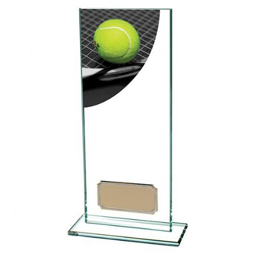 Colour Curve Tennis Jade Glass Award 200mm